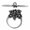 Toggle - 3 Flowers 15mm Antique Silver